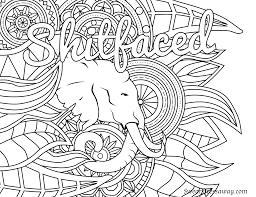 Free Adult Printable Coloring Pages Elegant Page Shitfaced Swear Word