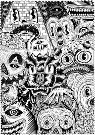 Halloween Picture Books Online by Printable Doodle Art Coloring Pages 2013 At 1000 1428 In