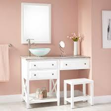 Bathroom Vanities With Matching Makeup Area by Best 25 Vanity With Sink Ideas On Pinterest Bathroom Vanity