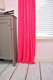 Light Pink Ruffle Blackout Curtains by Colorful Curtains Custom Drapes Gold Dots With Results Light