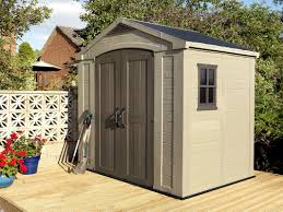keter factor 8 ft 5 in w x 6 ft d plastic storage shed