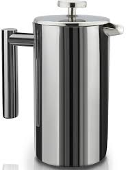 Amazon French Press Double Wall Stainless Steel Mirror Finish 1L Coffee Tea Maker Screen System 100 No Grounds Guarantee