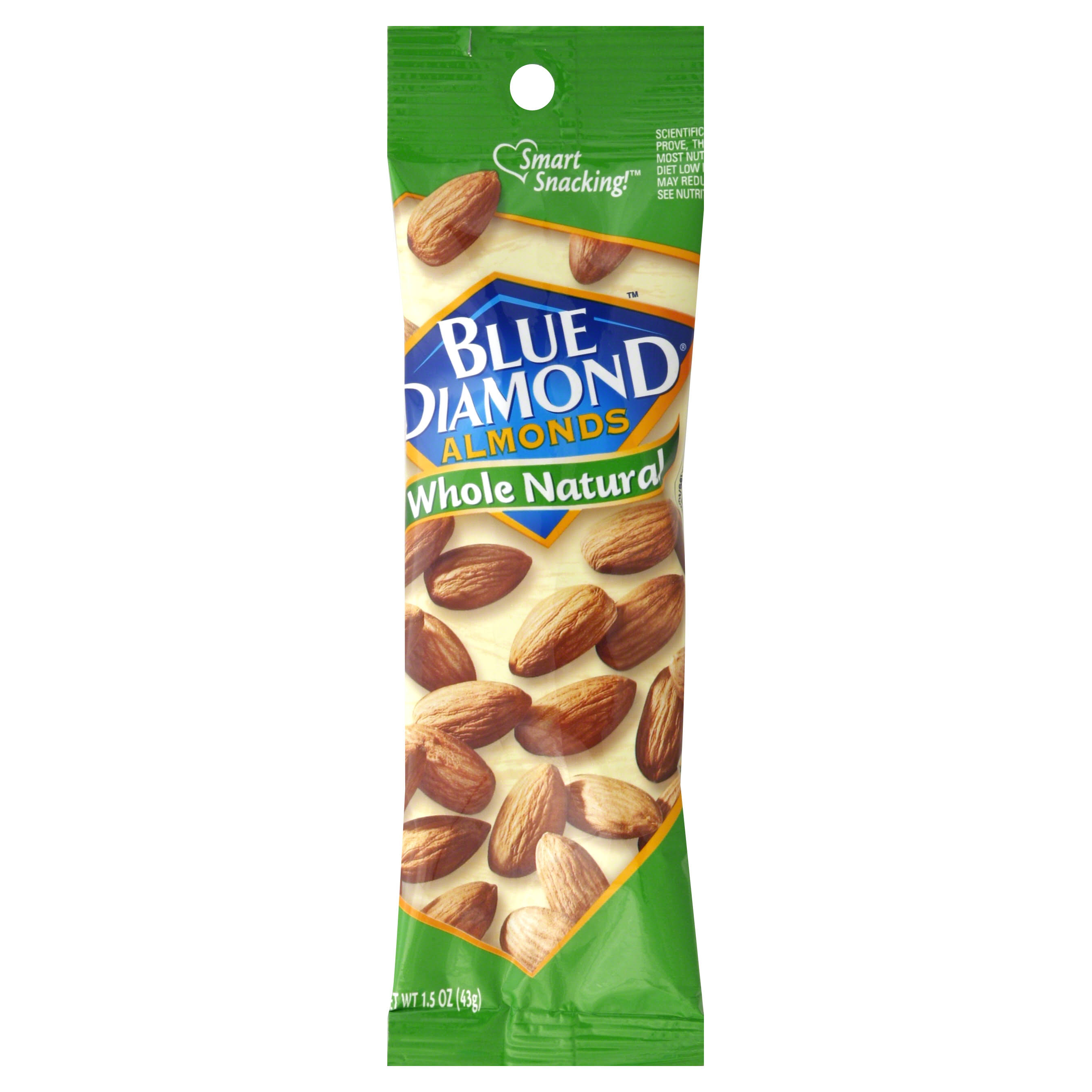 Blue Diamond Whole Natural Almonds - 1.5oz