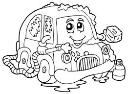 Car Wash With Soap Coloring Pages
