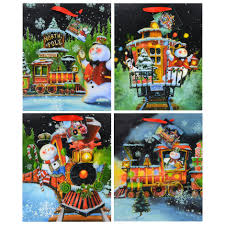 Voila Large Christmas Train Gift Bags 10x5x12 In