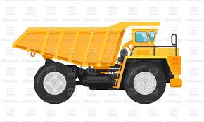 100 Side Dump Truck Yellow Mining Dump Truck Tipper Side View Stock Vector Image