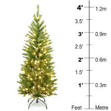 4 Foot Pre Lit Christmas Tree Ft White Walmart Xmas Serendipitalia