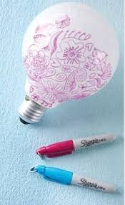 Awesome Craft For Teens This DIY Doodle Light Bulb Is An Easy Idea And Would Make Cool Room Decor