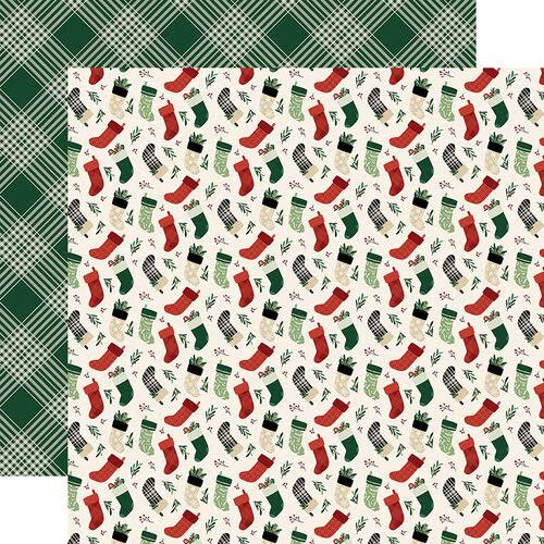 "Echo Park A Cozy Christmas Collection Double Sided Paper - 12"" x 12"""