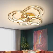 wohnzimmer decke licht moderne led decke licht gold ring