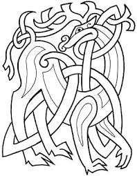 Celtic Animals Coloring Page