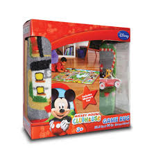 Disney Mickey Mouse Club House Mickey Town Game Rug Toys