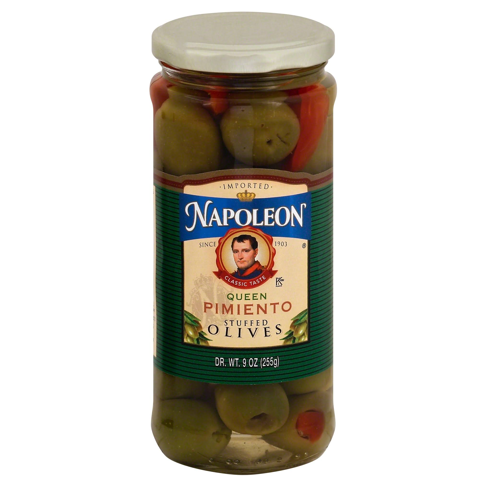 Napoleon Minced Pimiento Stuffed Queen Olives - 9oz