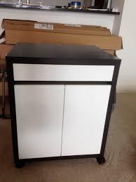 Ikea Micke Desk Assembly by Finished Black Micke Rolling Cabinet Ikea Carter Assembly