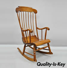 Vintage Nichols & Stone Cherry Wood Spindle Back Colonial Rocker Rocking  Chair From Vintage Philly Furniture Of Philadelphia | ATTIC Bow Back Chair Summer Studio Conant Ball Rocking Chair Juegomasdificildelmundoco Office Parts Chairs Leg Swivel Rocking High Spindle Caned Seat Grecian Scroll Arm Grpainted 19th Century 564003 American Country Pine Newel North Country 190403984mid Modern Rocker Frame Two Childrens Antique Chairs Cluding Red Painted Spindle Horseshoe Bend Amish Customizable Solid Wood Calabash Assembled