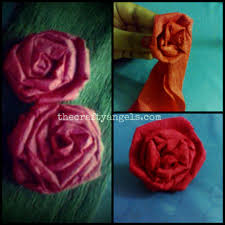 How To Make Crepe Paper Rose Flowers Step By