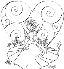 Disney Princess Valentine Coloring Pages