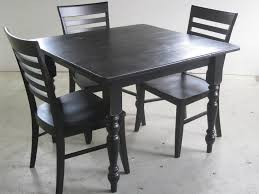 Rustic Square Black Game Table