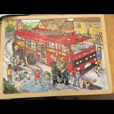 100 Fire Truck Game Videos Bigjigs Kids Very Large Wooden Fire Engine Puzzle In Corfe Mullen
