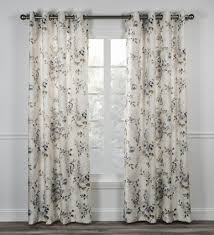 Cherry Blossom Curtain Panels by Chatsworth Floral Print Lined Grommet Top Panel Window Curtain