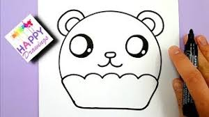 HOW TO DRAW A CUTE PANDA CUPCAKE EASY STEP BY