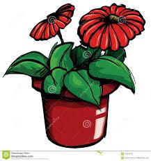 dessin animé de bac de fleur illustration de vecteur image 19464973
