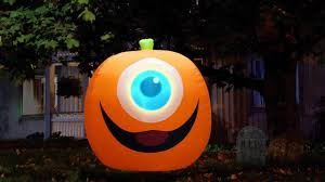 Halloween Blow Up Decorations by Airflowz Halloween Projection Inflatable Moving Eye Pumpkin Youtube