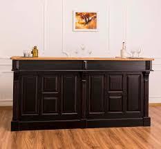 casa padrino landhausstil thekenschrank antik schwarz naturfarben 220 x 65 x h 107 cm ladentheke mit schubladen und ablagefächer
