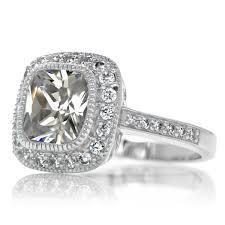 Engagement Ring Cushion Cut Halo 36