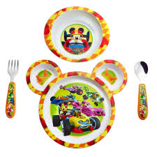 Mickey Mouse Bathroom Set Amazon by Amazon Com Mickey Mouse Clubhouse Kids Plate Set Baby