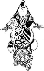 Drawing A Totem Easy Step 4 Coloriage Totem Pole