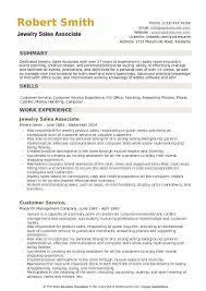 Jewelry Sales Associate Resume Example