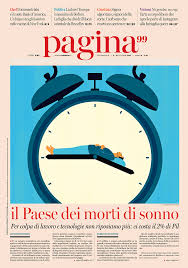 My Cover Illustration For Pagina99 Magazine In Italy Accompanied The Main Story About Insomnia