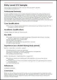 Entry Level Resume Examples Samples