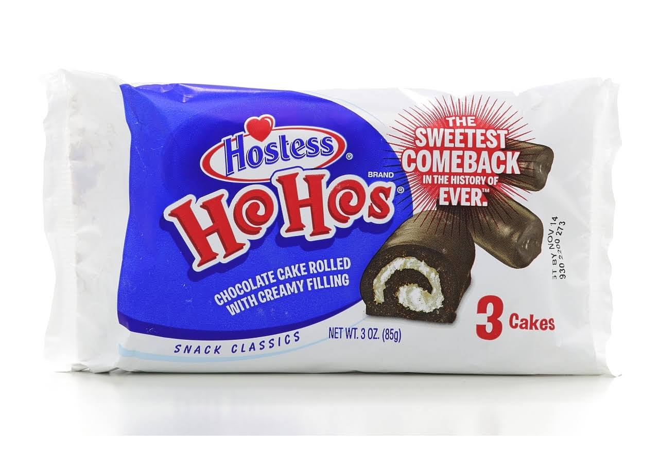 HOSTESS Ho Hos Chocolate Cake Rolled with Creamy Filling - x3