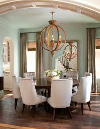 Transitional Brown Floor Dining Room Photo In Dallas