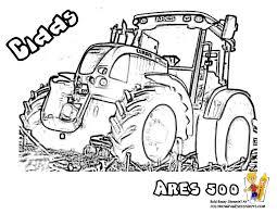 Coloriage à Dessiner Tracteur Tondeuse