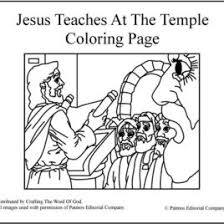 Jesus Teaches At The Temple Coloring Page A Crafting Word Of God