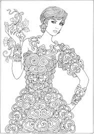Adult Coloring Page Dover Creative Haven Ornamental Fashions Book