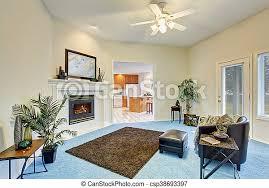 blaues wohnzimmer boden luxus inneneinrichtung teppich