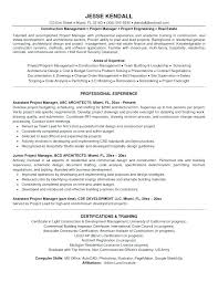 Project Manager Sample Resume Template Summary Statement Engineering Management