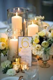 Pillar Candle Mercury Glass Wedding Centerpiece