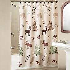 Silhouette Lodge Shower Curtain With Bonus Hooks Walmart
