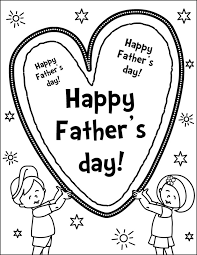 Happy Fathers Day Heart Coloring Page