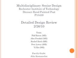 Dresser Rand Group Inc by Multidisciplinary Senior Design Rochester Institute Of Technology