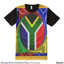 Amazing Urban South Africa Flag All Over Print Shirt
