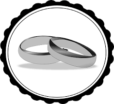Wedding Ring Black And White Clipart 1