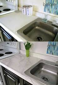 How To Paint Kitchen Countertops Before And After Sand Stone Paint