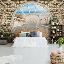 details zu vlies fototapete steinwand 3d steinoptik strand fenster wohnzimmer steine 85