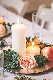 Candle Lighting Succulent Wedding Centerpieces Ideas